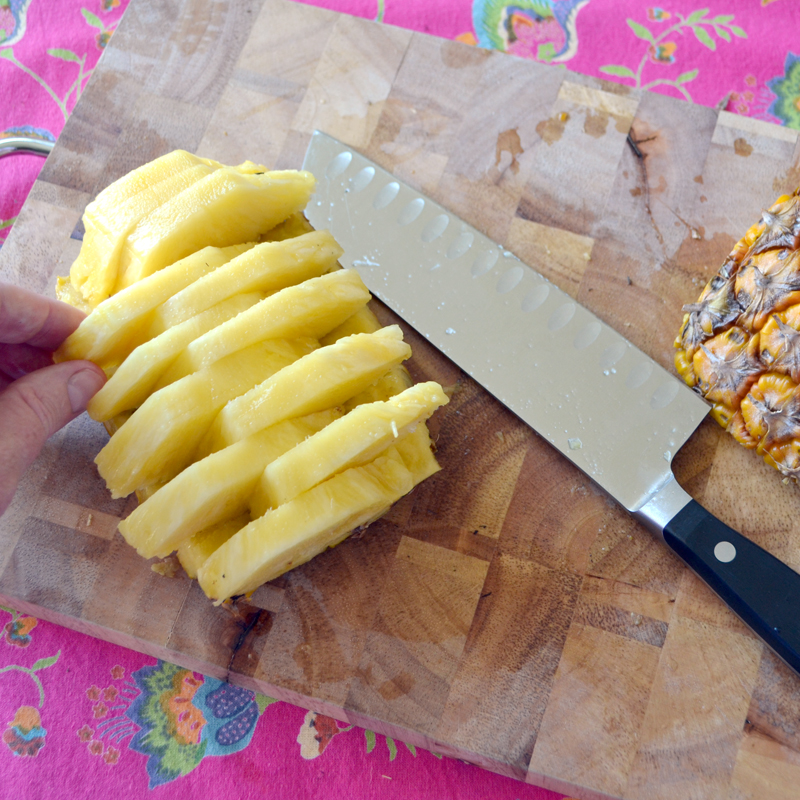 pineapple plates - how to carve your own