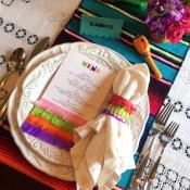 fiesta menu and napkin ring